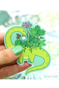 Turtle's Soup Dinosaur Planter Vinyl Sticker