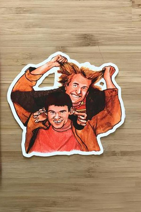 Yea Oh Greetings Dumb and Dumber 1 Sticker