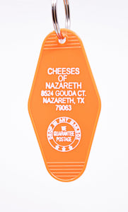 Three Sisters Motel Key Fob Cheeses of Nazareth