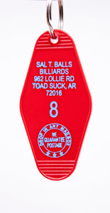 Three Sisters Motel Key Fob Sal T Balls Billiards