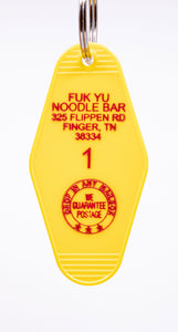 Three Sisters Motel Key Fob Fuk Yu Noodle House