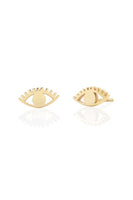 Kris Nations Eye Stud Earrings in 18K Gold Vermeil