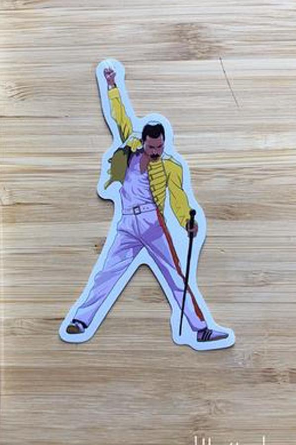 Yea Oh Greetings Freddy Mercury Sticker