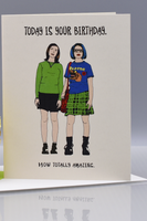 Seas and Peas Totally Amazing Ghost World Birthday Card