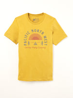 The Great PNW Sunrise Tee Mustard
