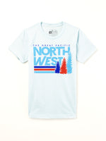 The Great PNW Lift Tee Ice Blue