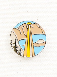 Good and Well Supply Co. Enamel Pin Crater Lake