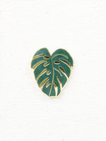 Hemleva Monstera Pin Green