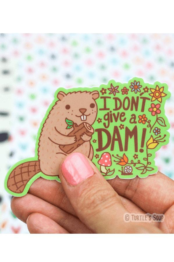 Turtle's Soup I Don't Give A Dam Vinyl Sticker