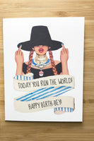 Yea Oh Greetings Today You Run The World - Beyonce Card