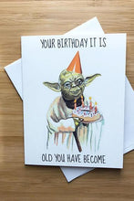 Load image into Gallery viewer, Yea Oh Greetings Yoda - Star Wars Birthday Card