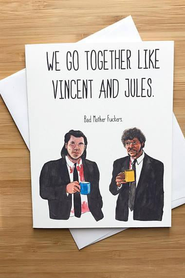 Yea Oh Greetings Vincent and Jules - Pulp Fiction Card