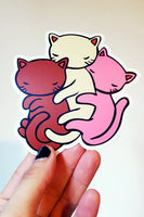 Stasia Burrington Neapolitan Cat Vinyl Sticker