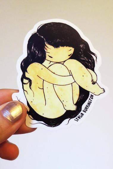 Stasia Burrington Self Hug Vinyl Sticker