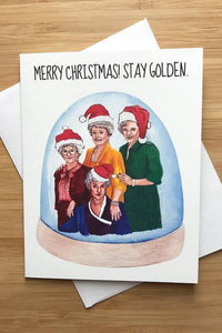 Yea Oh Greetings Golden Girls Christmas Card