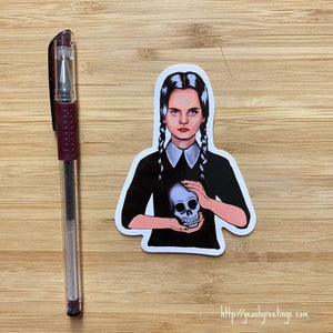 Yea Oh Greetings Wednesday Addams Sticker