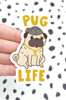Turtle's Soup Pug Life Vinyl Sticker