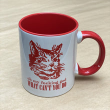 Load image into Gallery viewer, RX Letterpress Inspire Cat Mug