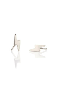 Kris Nations Lightning Bolt Stud Earrings in Sterling Silver