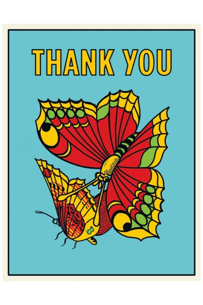 The Found Butterflies Thank You Card