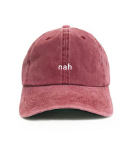 Load image into Gallery viewer, Dad Brand Apparel Nah Dad Hat Red