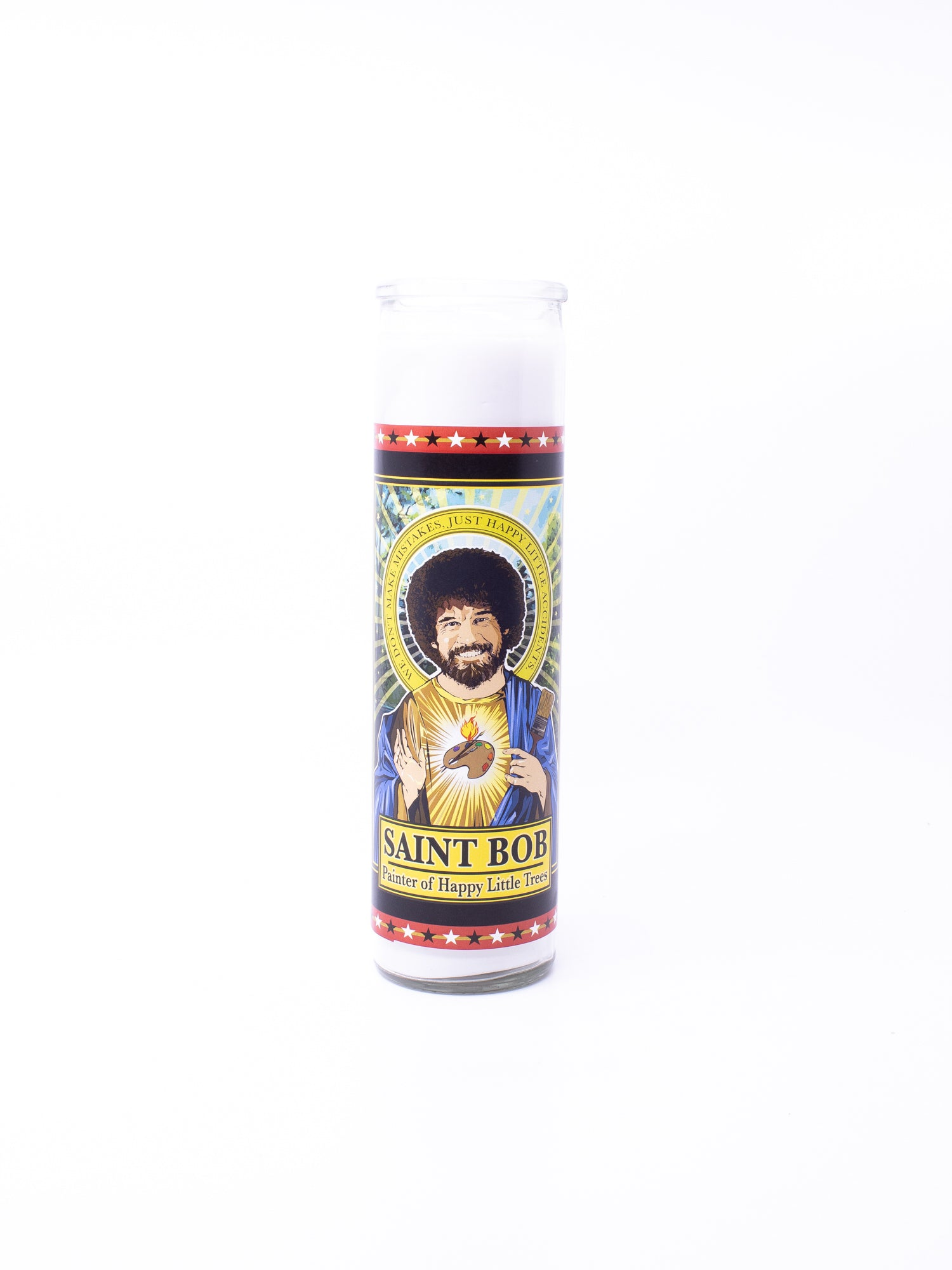 Omakase Saint Bob Ross Candle