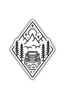Stickers Northwest Outdoor Jeep Scene Large Printed Sticker