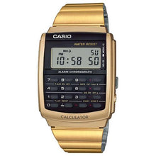 Load image into Gallery viewer, Casio Vintage Databank Black Face / Gold Band