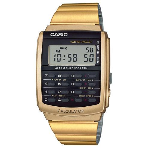 Casio Vintage Databank Black Face / Gold Band