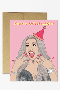 Party Mountain Paper Co. Cardi B Birthday Card