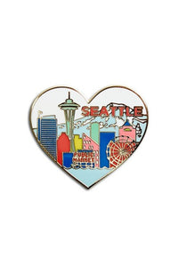 The Found Enamel Pin Seattle Skyline Heart