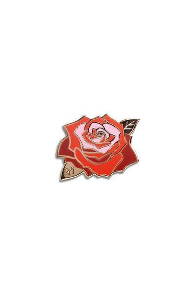 The Found Enamel Pin Red Rose
