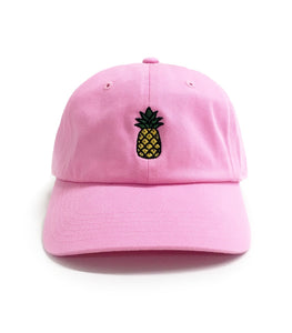 Dad Brand Apparel Pineapple Dad Hat Pink