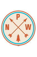 Stickers Northwest PNW Arrows Large Printed Sticker