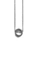 Larissa Loden Polymath Silver Open Hexagon Necklace