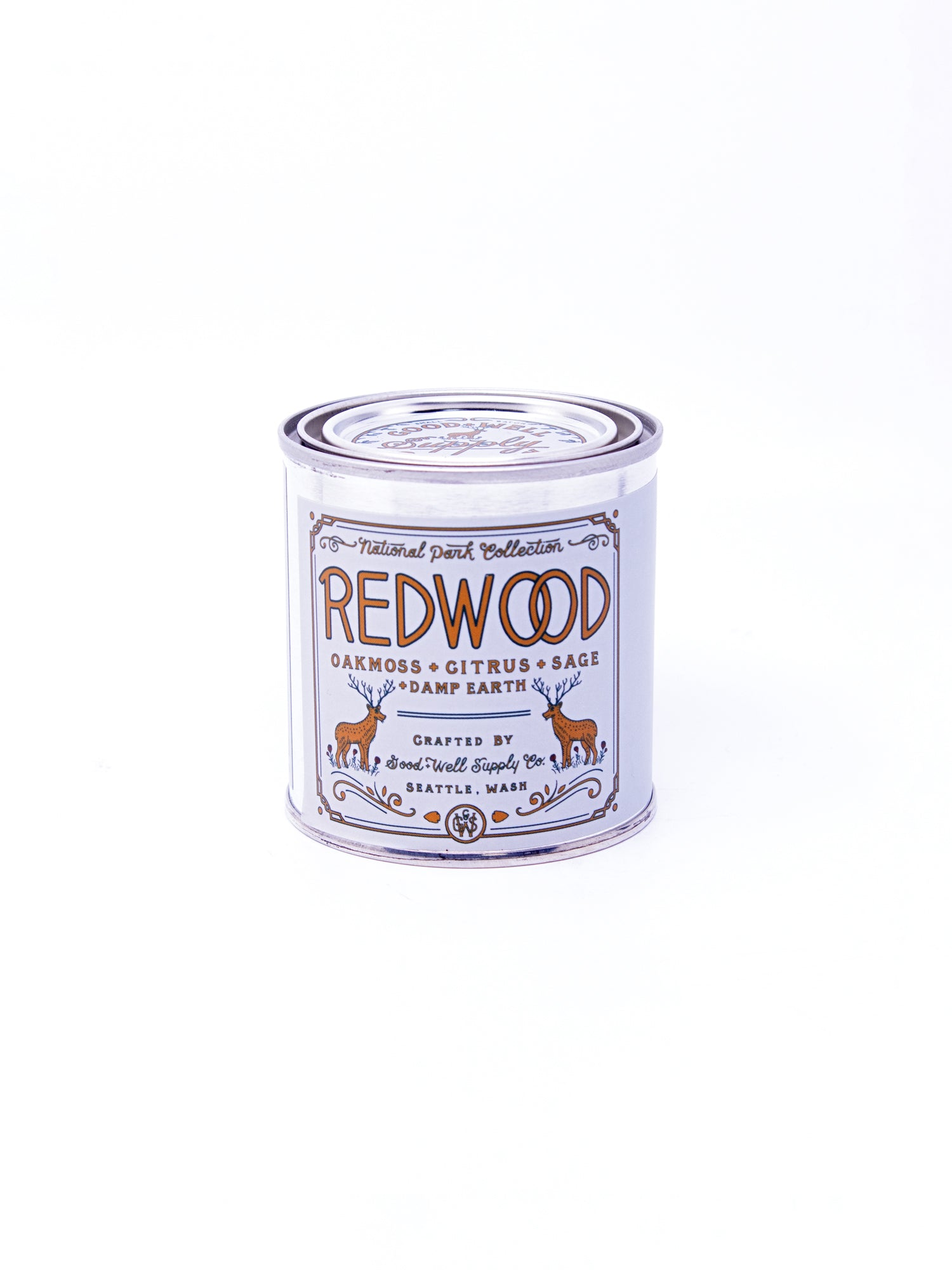 Good and Well Supply Co. Half Pint National Park Candle Redwood