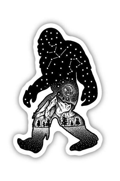 Stickers Northwest Sasquatch Constellation Large Printed Sticker