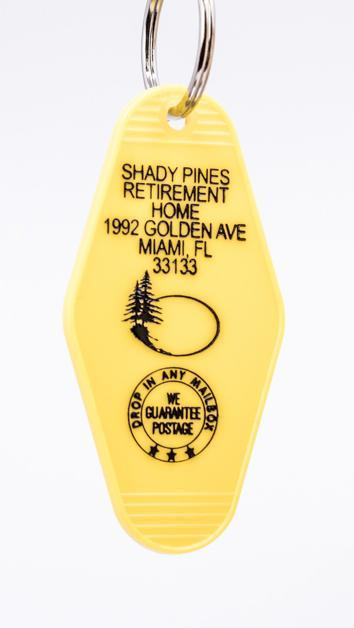 Three Sisters Motel Key Fob Shady Pines Retirement Home