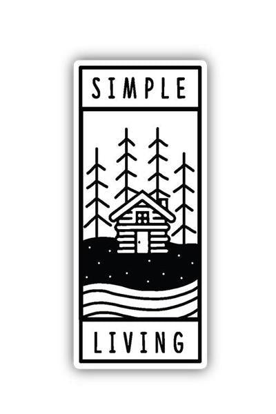 Stickers Northwest Simple Living Large Printed Sticker