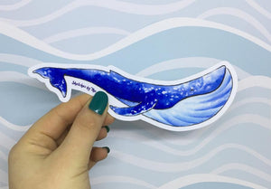 Sketches by the Sea Blue Whale Sticker