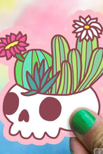 Load image into Gallery viewer, Turtle's Soup Skull Garden Vinyl Sticker