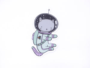 Stasia Burrington Space Kitty Vinyl Sticker