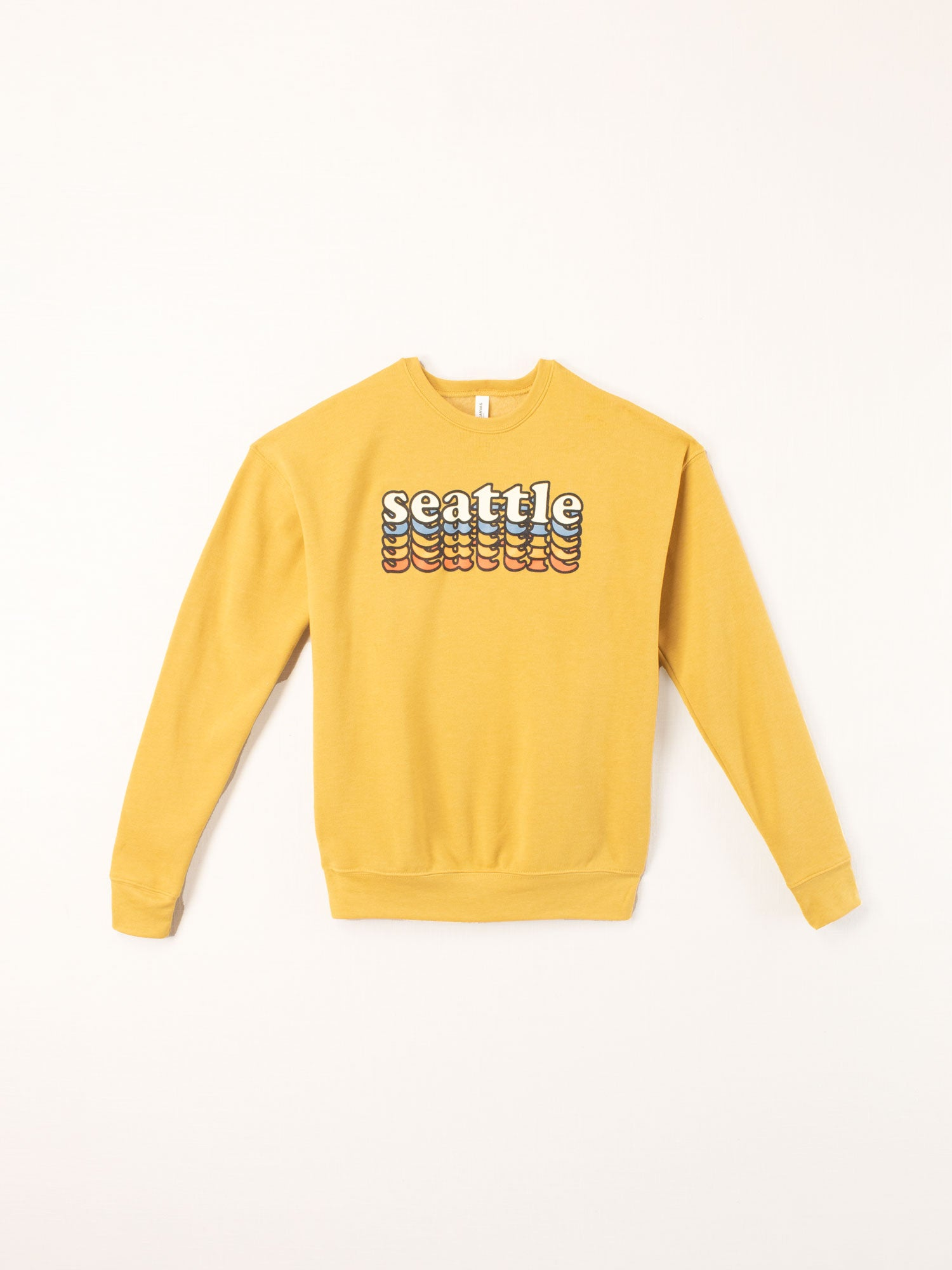 Standard Goods Seattle Stacked Crewneck Mustard