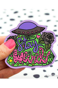 Turtle's Soup Stay Weird Vinyl Sticker