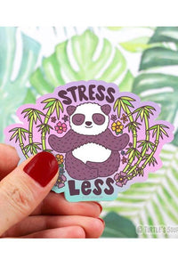 Turtle's Soup Stress Less Panda Vinyl Sticker