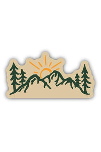 Stickers Northwest Sun Over Mountains Large Printed Sticker