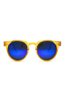 Spitfire Teddy Boy Sunglasses in Orange/Blue Mirror