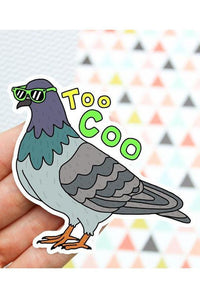 Turtle's Soup Too Coo Pigeon Vinyl Sticker