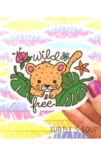 Load image into Gallery viewer, Turtle's Soup Wild and Free Jungle Cat Vinyl Sticker