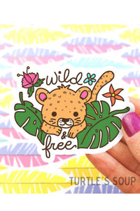 Turtle's Soup Wild and Free Jungle Cat Vinyl Sticker